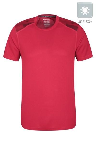 Aspect Printed Mens Panel T-Shirt - Red