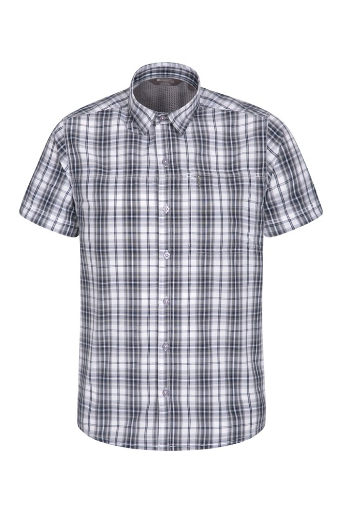 Chemise Hommes Vacation Check - Gris