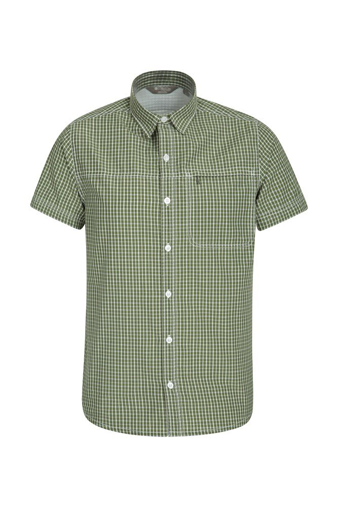 Chemise Hommes Vacation Check - Vert