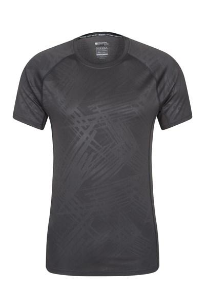 Printed IsoCool Mens T-Shirt - Black