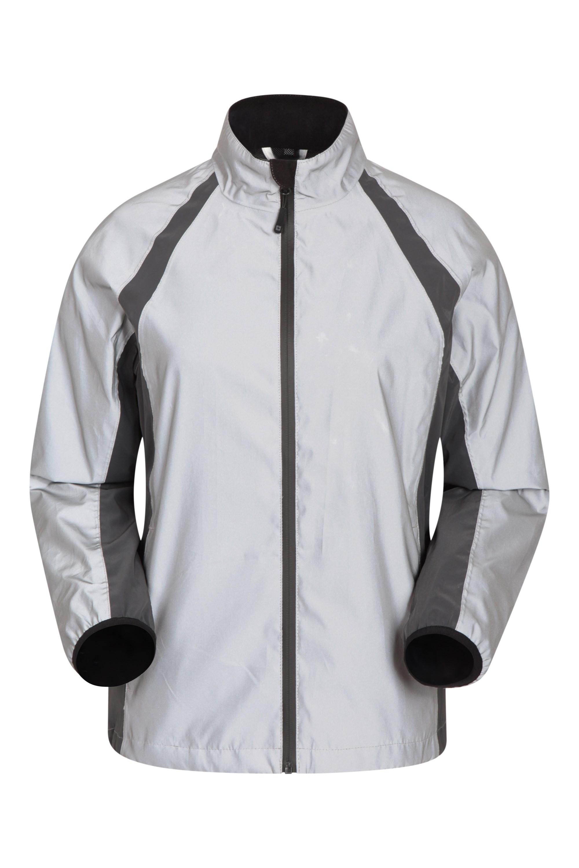 Shine 360?? Reflective Womens Waterproof Jacket - Silver
