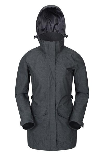Shore Textured Womens Waterproof Jacket - Grey