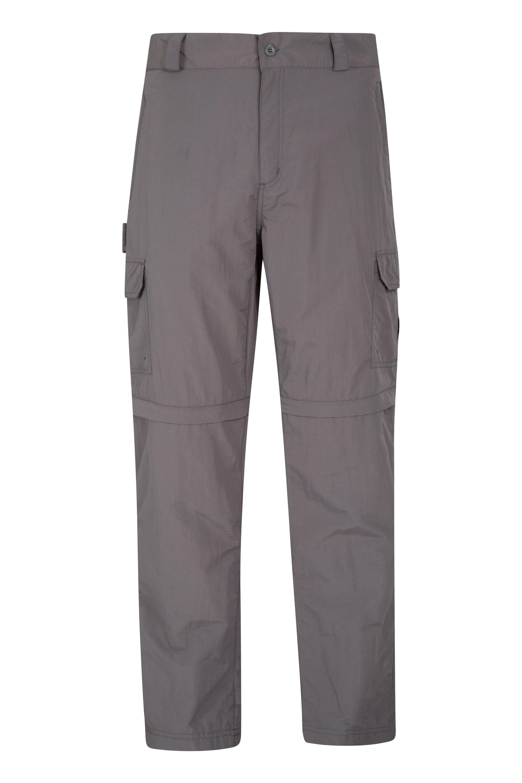 Mountain Warehouse Explore Herren Zip-Off Hose – kurze Länge grau, khaki | 05057634270601