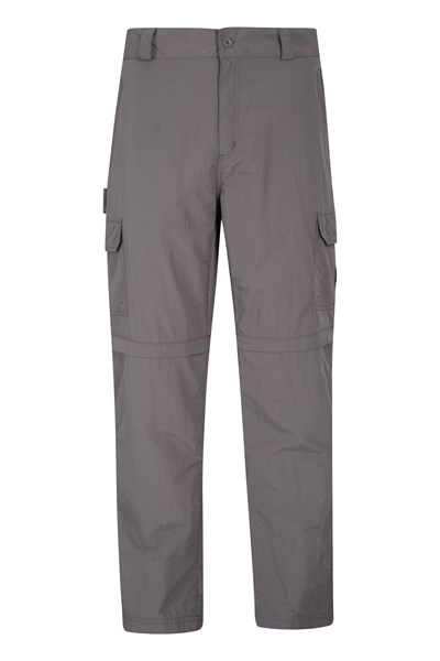 Explore Mens Zip-Off Trousers - Short - Grey