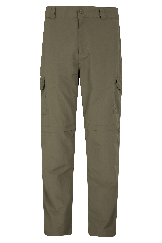 Explore Mens Zip-Off Trousers - Short - Green
