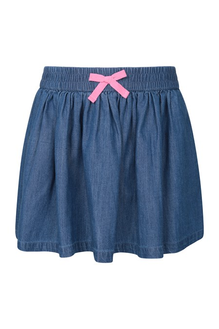 030922 CHAMBRAY KIDS SKIRT