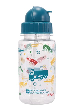 BPA Free Printed Flip Lid Kids Bottle - 350ml
