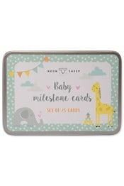 Neon Sheep Baby Milestone Cards in Tin