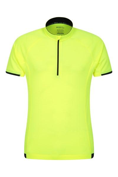 Cycle Short Sleeve Mens T-Shirt - Yellow