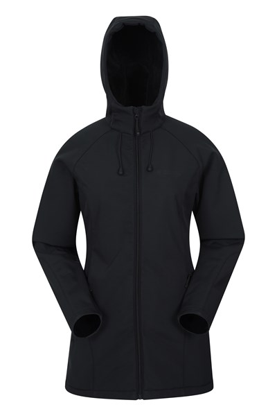 Frost Womens Longline Softshell - Black