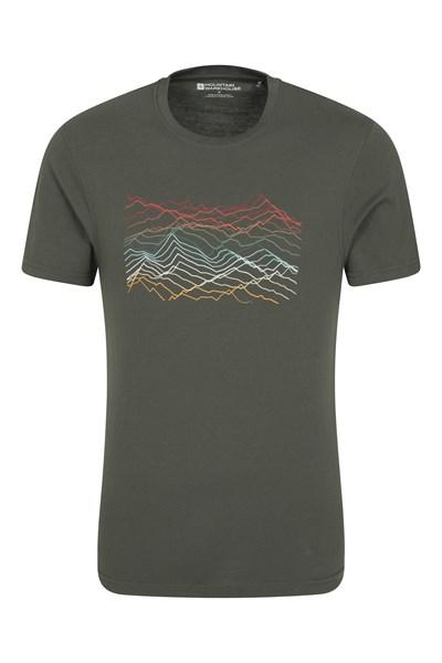 Mountain Richter Scale Mens T-Shirt - Brown