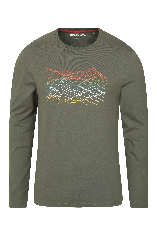 Mountain Warehouse Hommes Mountain échelle de Richter à manches longues tee tshirt