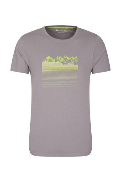 Mountain Gradient Mens T-Shirt - Grey
