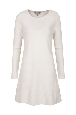 Hazel Womens Long Sleeve Knitted Dress