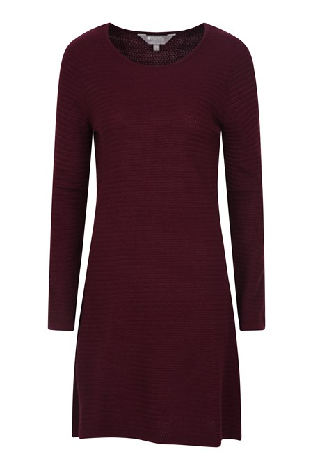 031120 HAZEL WOMENS LS KNITTED DRESS