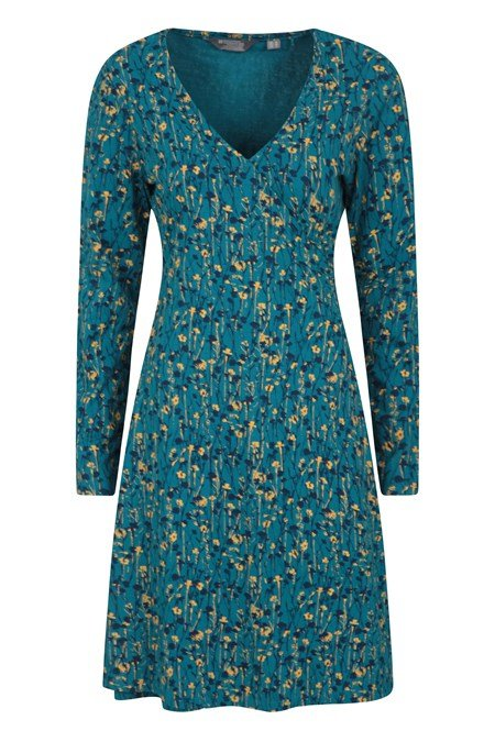 031126 JUNIPER PRINTED WOMENS LS WRAP DRESS