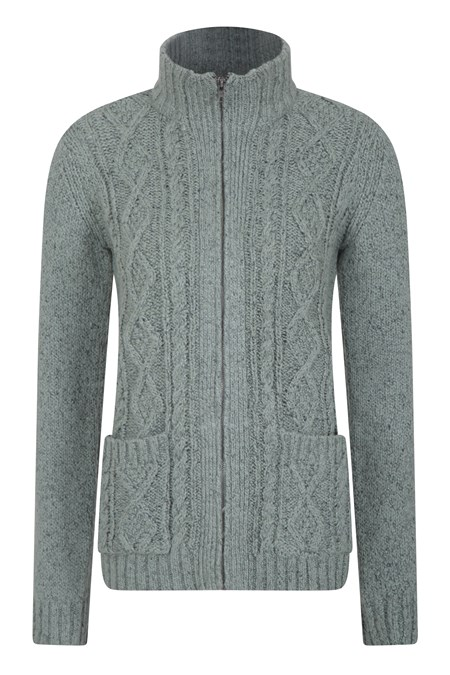 031127 EXETER WOMENS FULL ZIP KNITTED TOP