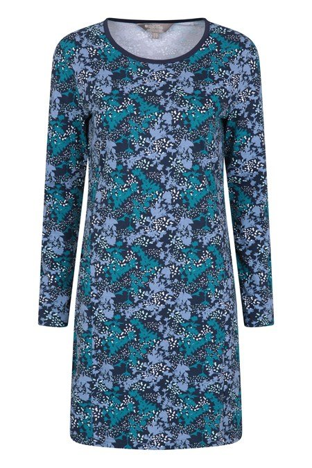 031139 PRIMROSE PRINTED WOMENS LS DRESS