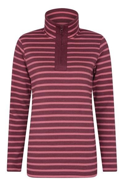 Glaze Half Zip Womens Sweatshirt - Burgundy