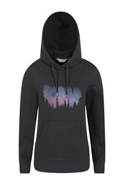 Northern Lights Printed Womens Hoodie