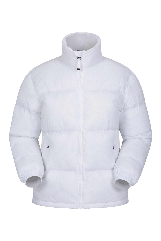 Flip Bomber - pikowana kurtka damska - White