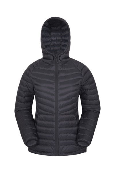 Skyline Womens Hydrophobic Down Jacket - Black