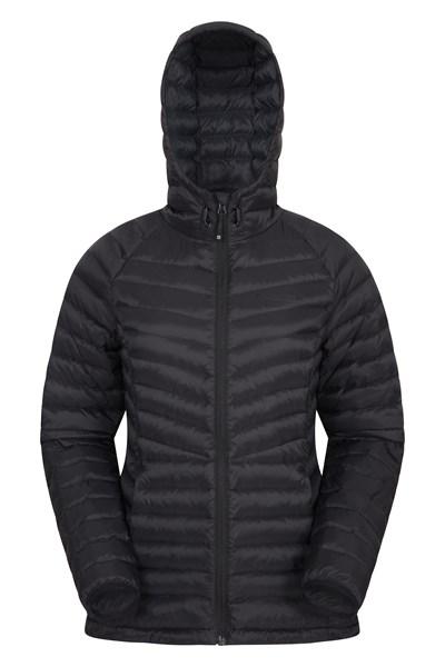 Skyline Womens Hydrophobic Down Jacket - Black