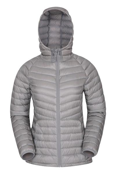 Skyline Womens Hydrophobic Down Jacket - Grey