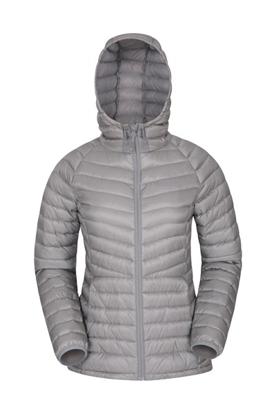 Skyline Womens Hydrophobic Down Jacket - Grey