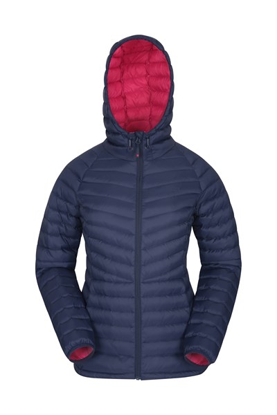 Skyline Womens Hydrophobic Down Jacket - Navy