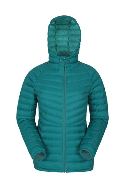 Skyline Womens Hydrophobic Down Jacket - Teal