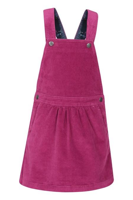 031184 CORD KIDS DUNGAREE DRESS
