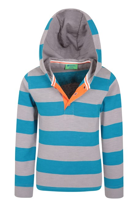 031190 STRIPE RUGBY KIDS SHIRT