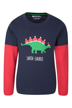 Dinosaur Xmas Kids Top