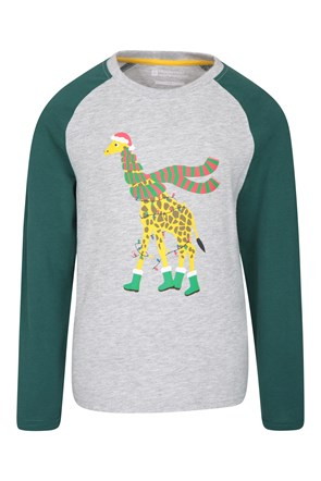 Safari Xmas Kids Top