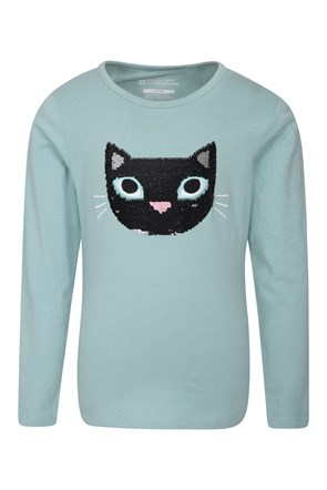 Sequin Cat Kids Top