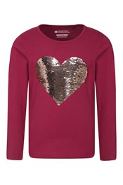 Heart Flip Sequin Kids Top