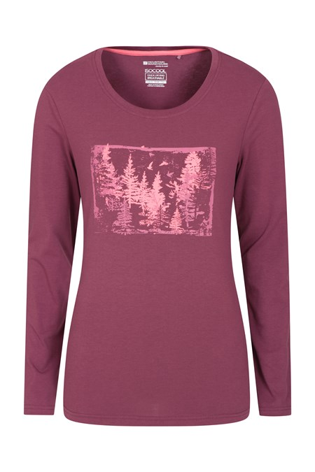 031275 FOREST BRIGHTS PRINTED LS WOMENS TEE