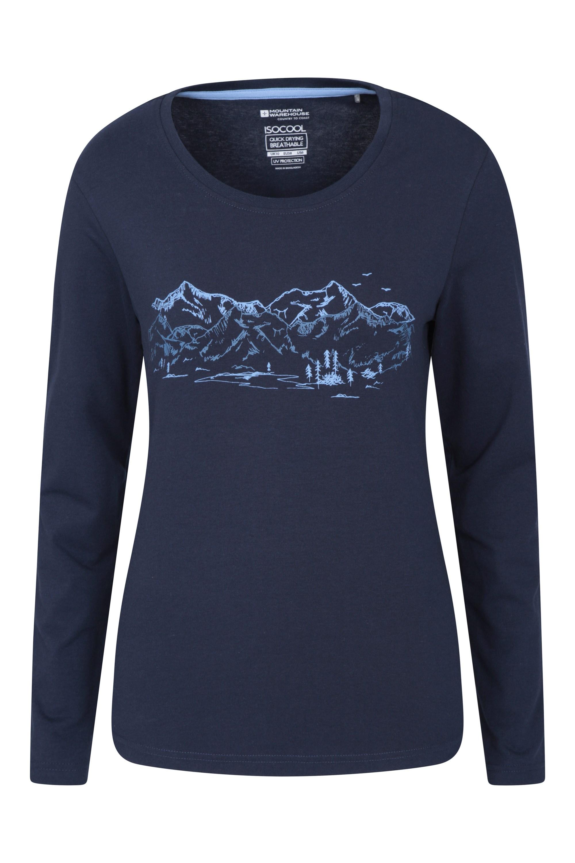 Mountain Landscape - koszulka damska - Navy