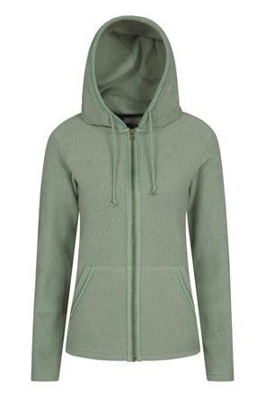 Elder Sherpa-Fleece Damen Kapuzenjacke