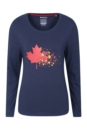Camiseta Scattered Maple Leaf Mujer