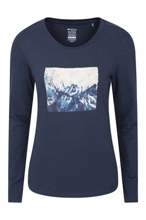 Ski Slope Printed Womens Long Sleeve Top