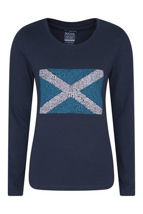 Scotland Gemustertes Damen-Top