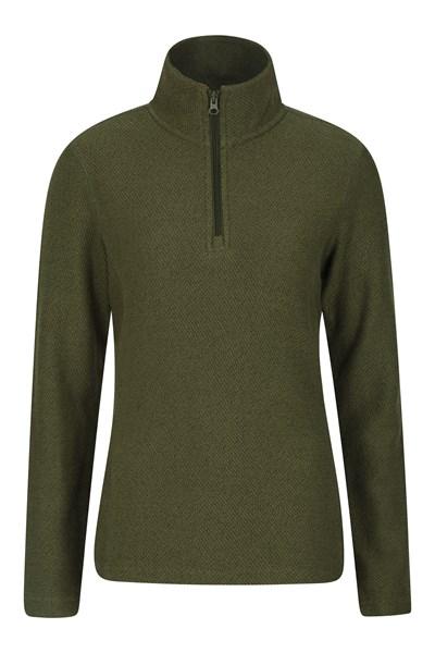 Cambridge Half Zip Womens Top - Green