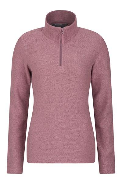 Cambridge Half Zip Womens Top - Pink