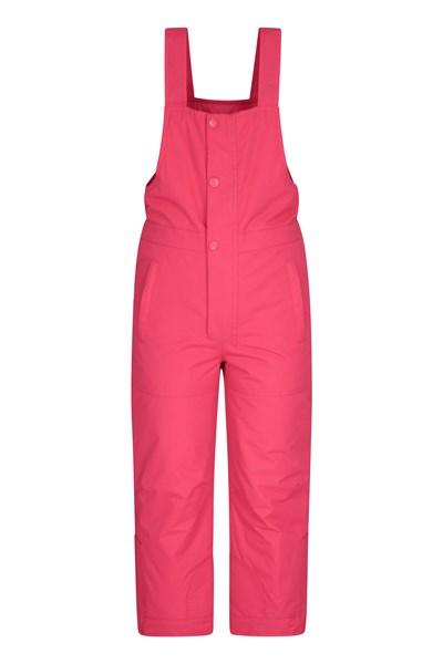 Bib Front Kids Ski Pants - Pink