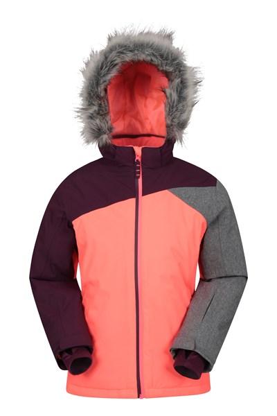 Snowflake Extreme Waterproof Kids Ski Jacket - Pink
