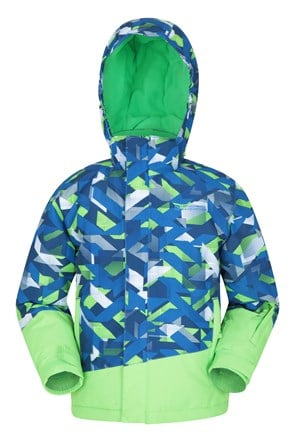Blade Printed Kids Ski Jacket