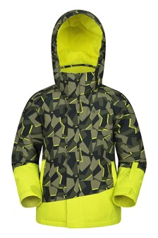 Whistler Printed Kids Ski Jacket  Green