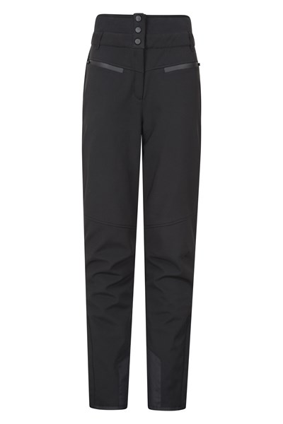 Avalanche Womens High-Waisted Slim Fit Ski Pants - Black